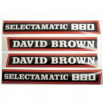 David Brown 880 Tractor Decal Set